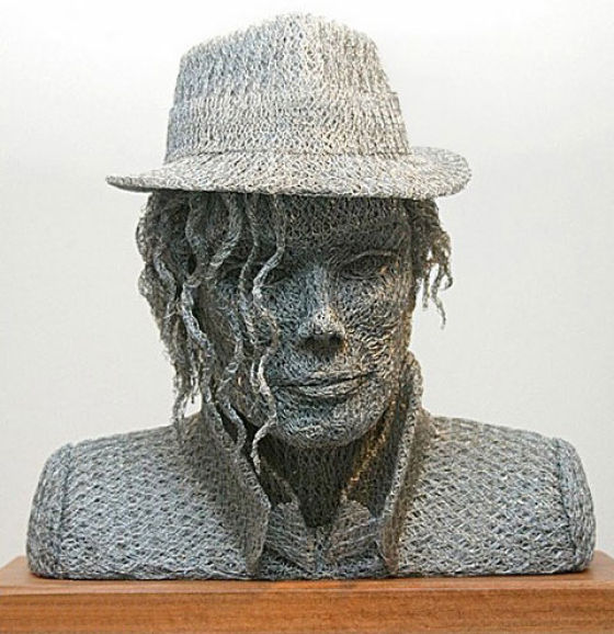 Michael jackson remembered blog archive mj art wire for Chicken wire art